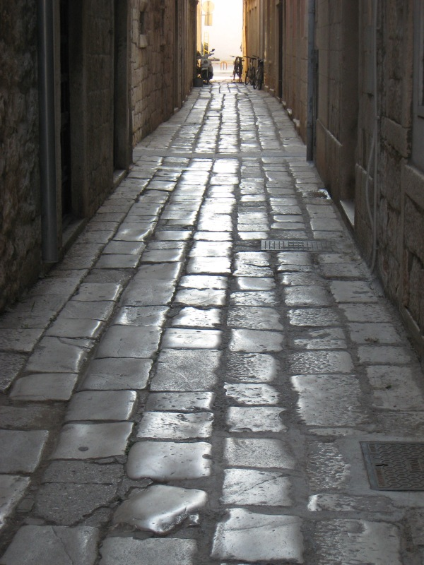 A polished stone street in Split, Croatia Renee Wilmeth