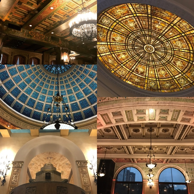 Tiffany Dome, glass ceilings, Fuller Auditorium (c) Renee M. Wilmeth
